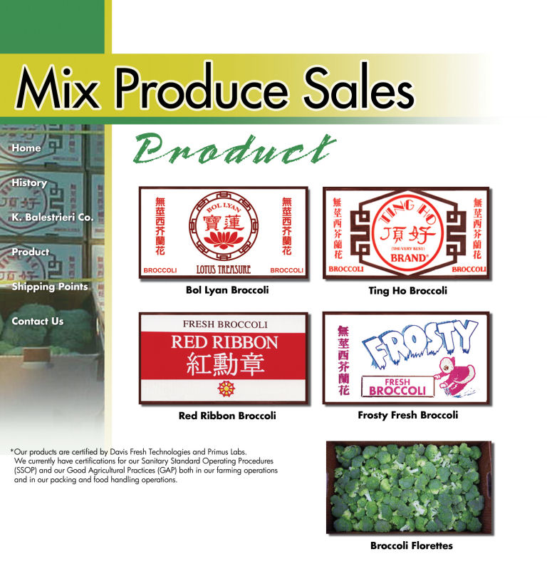 Mix Produce - Distributor of fresh fruits and vegetables from the US and Mexico
